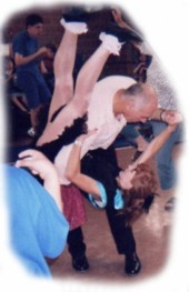June and Gareth dance for disabled kids
